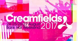 Creamfields 4 Day Gold Camping ticket.