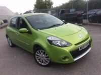 RENAULT CLIO 1.2 DYNAMIQUE TCE 2009 (59) GREEN LOW MILEAGE 2 KEYS 2 LADY OWNERS FULL SERVICE HISTORY