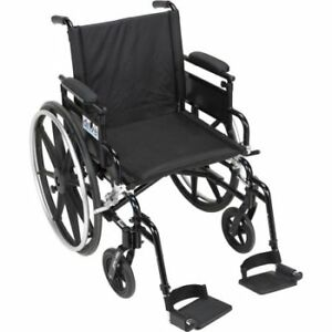 """Drive Medical Viper Plus GT 18"""" Seat Adjustable Desk Arms Wheelc"""