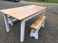 Lovely rustic table and benches
