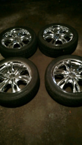 tires with chrome rims and are universal 215/45zr17