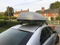 Roof box with rails fits mondeo