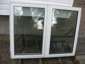 Fixed+casement double window unit