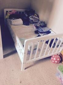 Children's Single Bed and Mattress