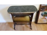 *vintage* german 1950s/60s marble effect laminate bedside table magazine rack *retro*