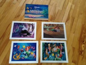 Beautiful Disney Lithographs 4 Pictures in each set