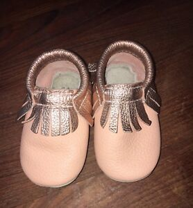 Gorgeous peach and rose gold mocs
