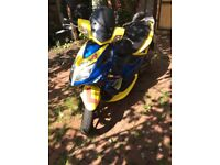 Kymco super 8 registered as a 50 cc with 100 cc piston