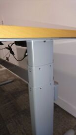 Rectangle desk with electric height adjustment