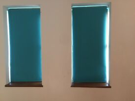 5 teal green blinds