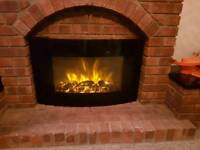 Electric fire with remote