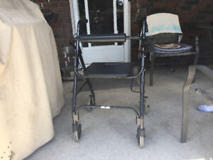 GREAT FOLD UP WALKER WITH DUAL BRAKES FOR CHEAP $80