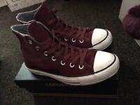 Ladies Converse - Burgundy High Tops Size 6