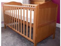 Mothercare cotbed with pocket sprung mattress