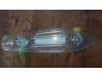 Skateboard w/Light up wheels