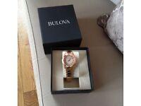 Ladies a Diamond Bulova watch