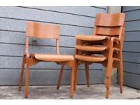 Vintage mid Century Tecta stackable school chairs.