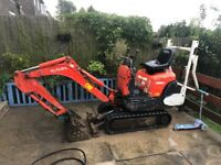 Kubotor k008-3 digger, LOW HOURS 1000