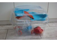 modern clear material Hamster cage with many accessories