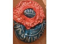 2 children's rubber rings - swimming pool toys
