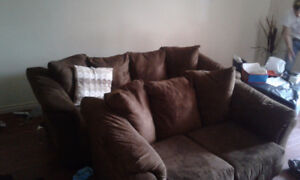 VERY SOFT BROWN COUCH SET VERY COMFORTABLE
