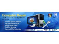 Mobile Computer Repairs, Viruses removed, files recovered, laptop screens replaced. I come to you!