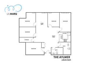 """Spacious Shared Student Apt. """"The Aylmer"""" - Downtown MTL"""