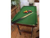 Mini Pool Table 137 x 74 cm £30 collect only from Shepherd's Bush.