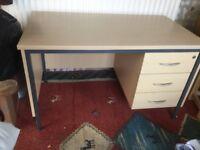 3 drawer desk x2