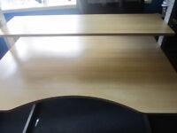 Light oak sturdy ajustable Ikea computer desk