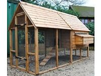 chicken / hen houses, coops both with and without runs