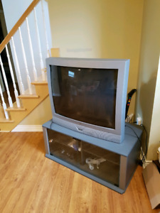 36'' Tube TV and stand/cabinet