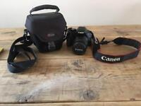 Canon EOS 550D + 18-55mm lens with case, battery, manual and brand new charger !