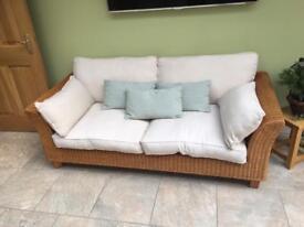 2 seater cane sofas