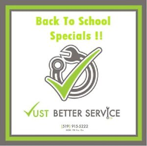 BACK TO SCHOOL AUTOMOTIVE REPAIR SPECIALS