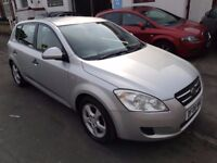 KIA CEED 2008 1.4 SILVER 12MTH MOT EXCELLENT CONDITION THROUGHOUT HIGH MILES