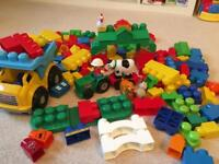 Megabloks first builders mixed set, farm, dumper truck