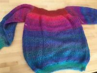 Size 8 Ladies hand knitted Jumper