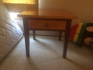 Two wood end tables