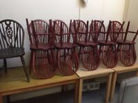 10 pieces wooden chair.