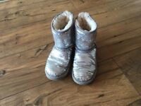 Girls Sequin Ugg Boots size 12