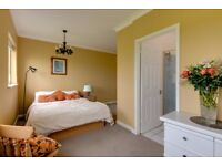 Lovely double room with ensuite shower room in country house