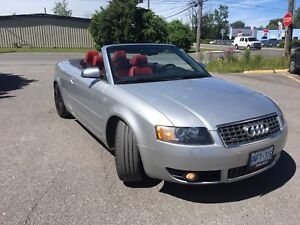 2005 Audi S4 convertible navigation & red leather