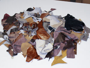 Cow Upholstery Leather Scrap Pieces - Sold by the Box
