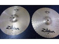 Set of Zildjian ZHT 390 pro drum cymbals - crash cymbal - ride cymbal -hi hat -China cymbal