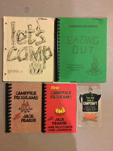 Camping books, Girl Guides, Scouts, youth groups