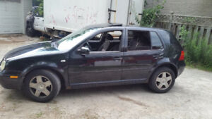Black 2001 VW Golf AS IS (Free Tow)