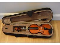 Violin, 1/2 size, perfect for beginners