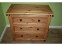 MEXICAN PINE CORONA 3 DRAWER CHEST