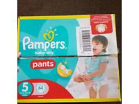 Pampers Baby Dry Pants Size 5 TWO MISSING